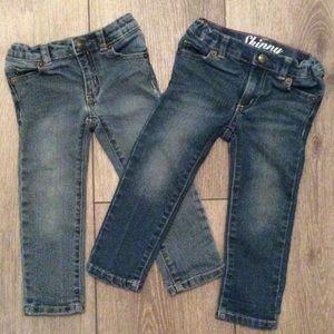 Crazy 8 Size 2T Skinny Jeans Lot